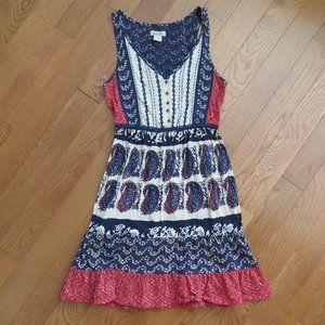 Fits Big- Lucky Brand Paisley Summer Dress